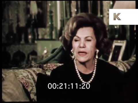 1970s Interview with Farideh Ghotbi Mother of Iran Empress Farah Diba