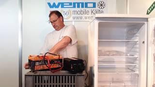 Solarkühlschrank WL 152 mit Liontron 12.8V 55Ah Test Vergleich Strombedarf Wechselrichterbetrieb