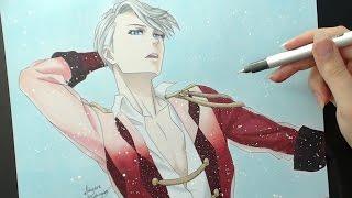 Speed Drawing - Victor Nikiforov (Yuri!!! On ICE)
