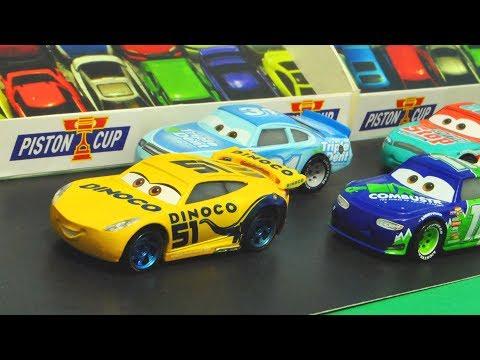 Disney Cars 3 : Dinoco Cruz Ramirez'S Piston Cup Race! - StopMotion