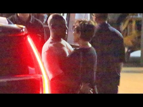 X17 EXCLUSIVE - Kris Jenner And Corey Gamble Show PDA At Kanye West Concert