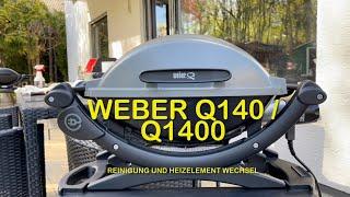 Weber Q 140 / Q 1400 - Reinigung Gussrost und Heizelement Wechsel