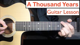 A Thousand Years   Christina Perri | Guitar Lesson (Tutorial) Chords