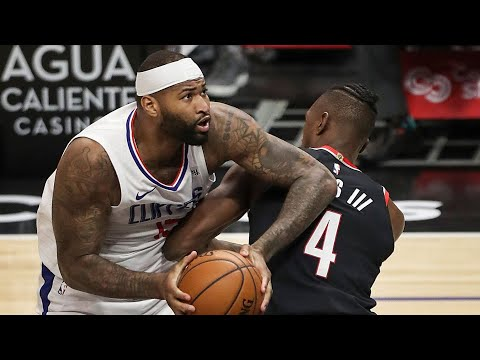 DeMarcus Cousins Clippers Debut vs Blazers! 2020-21 NBA Season