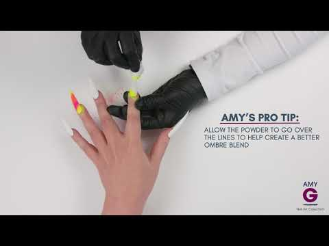 How to apply fluorescent powders - Amy G Nail Art Collection