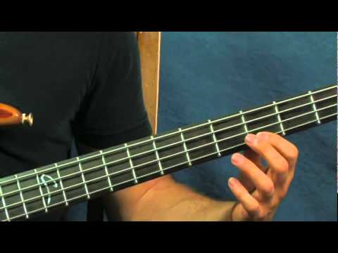 Easy Bass Guitar Song Lesson The Pink Panther Theme Chords