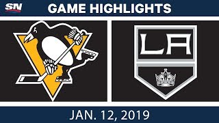 NHL Highlights | Penguins vs. Kings - Jan. 12, 2019