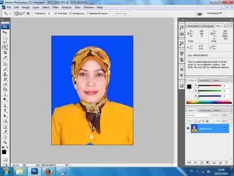 Video cara mengganti background pas foto dengan cepat