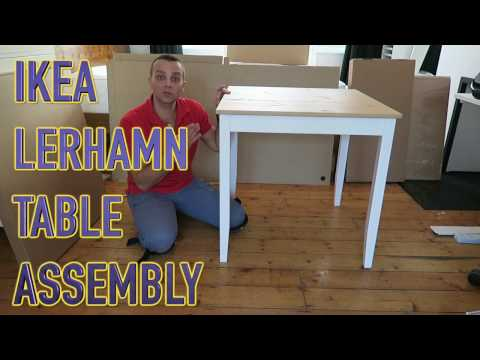 IKEA Table LERHAMN Assembly