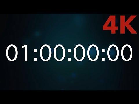 Stoppuhr/Timer 1 Hour - eine Stunde [4K] #timer #Stoppuhr