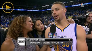 Steph Curry's Wife Ayesha Interrupts Husband's Interview with a Cute Reporter!