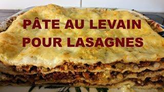 Pâte au levain pour lasagnes
