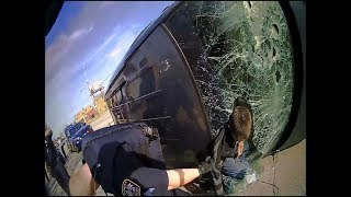 Cop Gets Dragged in Chase with Police Sirens On!!!