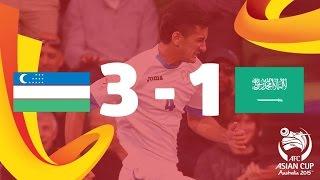 Uzbekistan vs Saudi Arabia: AFC Asian Cup Australia 2015 (Match 19)