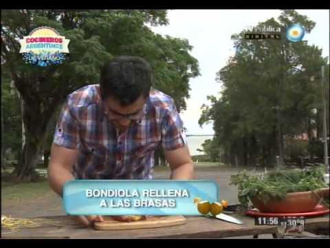 Bondiola a la parrilla en la Isla Martín García
