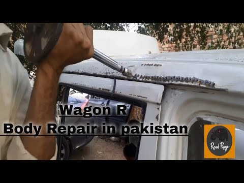 suzuki wagon r roll over complete dainting painting   by professionals in pakistan