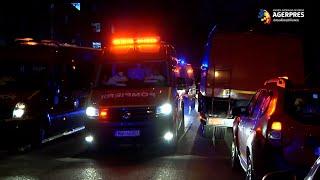 Incendiu la Spitalul 'Matei Balş' din Capitală; a fost activat planul roşu