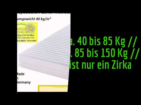 Orthopädische 7 Zonen Wellness Kaltschaum Matratze, Raumgewicht 40 kg /m³, Höhe 24 cm