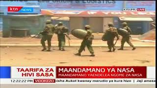 Waandamanaji wafurushwa Kisumu baada ya polisi kufika pale