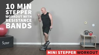 10 Minute Upper Body Stepper Workout w/ Resistance Bands