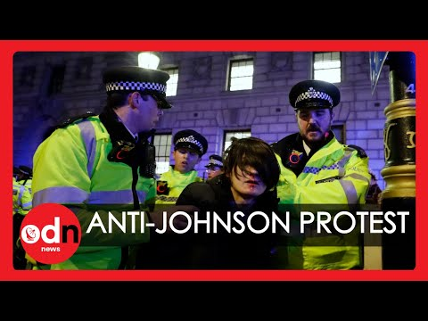 Anti-Johnson Protesters Clash with Police in London Following Election Results