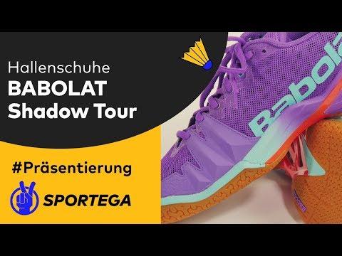 Damen Hallenschuhe Babolat Shadow Tour Purple/Blue/Red