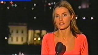 LETIZIA ORTIZ EN EL TELEDIARIO (SEPT 2001)