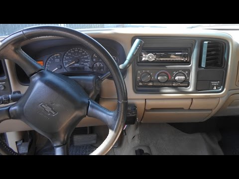 Installing wiring a double din stereo head unit chevy tahoe