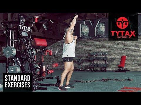 Cable Twisting Alternating Overhead Press | TYTAX® M2