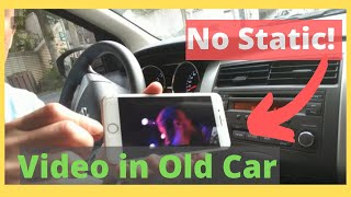 How to Play Music Video from iPhone thru Older Car Radio with No BLUETOOTH