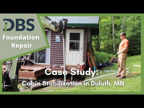 Cabin Stabilization by DBS in Duluth, MN