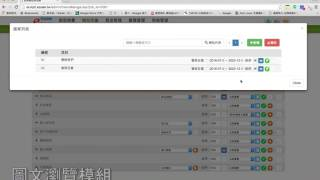 網站架構管理模組(圖文瀏覽)