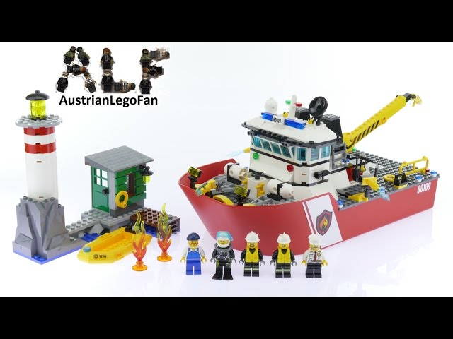 Lego City 60109 Fire Boat - Lego Speed Build Review