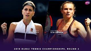 Petra Kvitova vs. Katerina Siniakova | 2019 Dubai Second Round | WTA Highlights