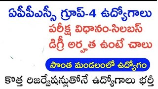 APPSC GROUP-4 NOTIFICATION,SYLLABUS TOTAL INFORMATION