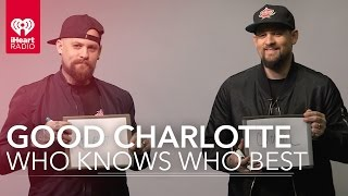 Benji & Joel Madden Good Charlotte Play Who Knows Who Better