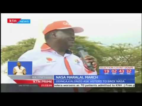 Raila and Kalonzo ask voters to back NASA; NASA Maralal toor