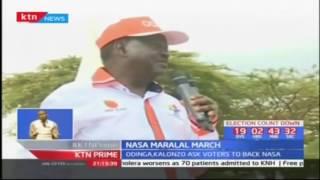 Raila and Kalonzo ask voters to back NASA; NASA Maralal toor