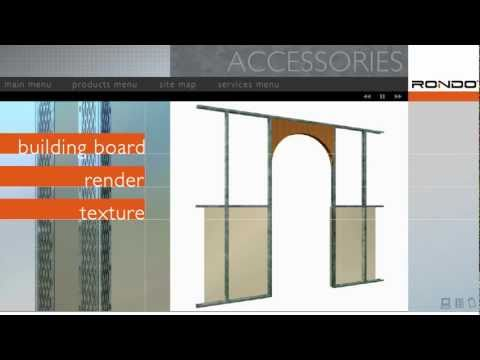 Rondo EXANGLE® Plasterboard & Render Finishing Beads & PANTHER® Access Panels