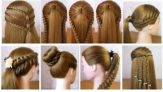Back To School Hairstyles 💕 Coiffures Simples Pour Lécole & Collège 💕 Facile à Faire