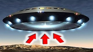 НЛО десант: летающая тарелка над Альпами - видео очевидцев 2018 HD (UFO)
