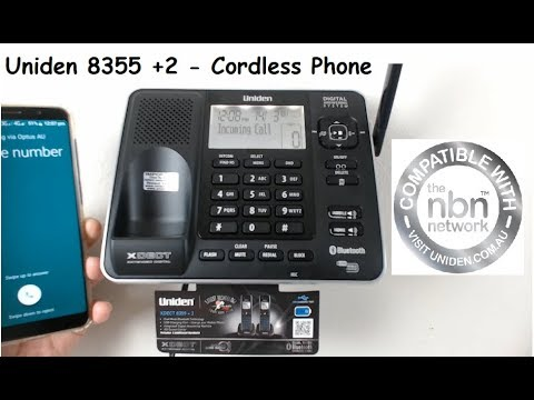 How to Use The Uniden 8355+2 - XDECT Digital Cordless Phone with Bluetooth.