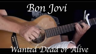 Kelly Valleau - Wanted Dead Or Alive (Bon Jovi ) - Fingerstyle Guitar