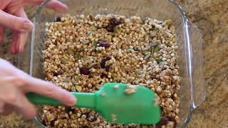 Cranberry Pistachio Granola Bars