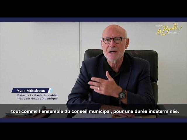 COVID-19 : Le maire de la Baule-Escoublac s'adresse aux Baulois dans une lettre ouverte