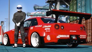 GTA 5 - NISSAN GTR SKYLINE DRIFT MONTAGE! (Port of Los Santos Gymkhana)