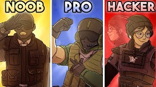 NOOB vs PRO vs HACKER in Rainbow Six Siege