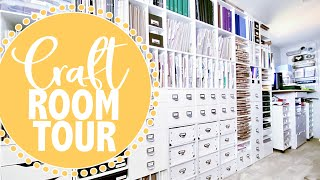 CRAFT ROOM TOUR // IKEA DRAWERS / MICHAELS CUBES // Organization & Storage Ideas For Craft Supplies