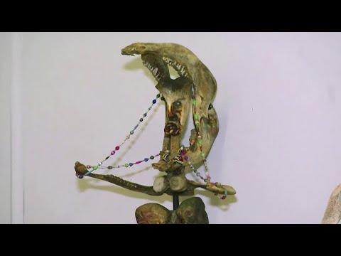 S. African artist's virtual bone sculpture show
