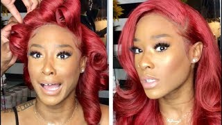 Cherry RED Sexy Wig Install! (Binf Hair)